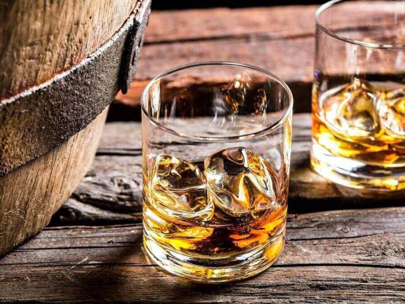 Different types of whiskey glasses