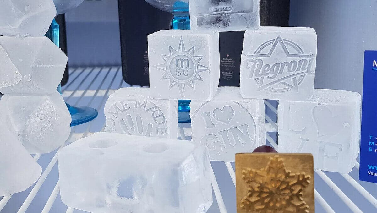 Ice cube stamps