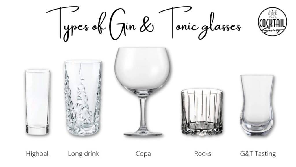 Types of Gin and Tonic glasses