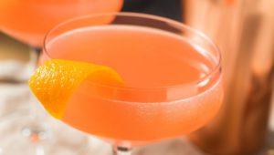 Monkey Gland cocktail garnished with orange