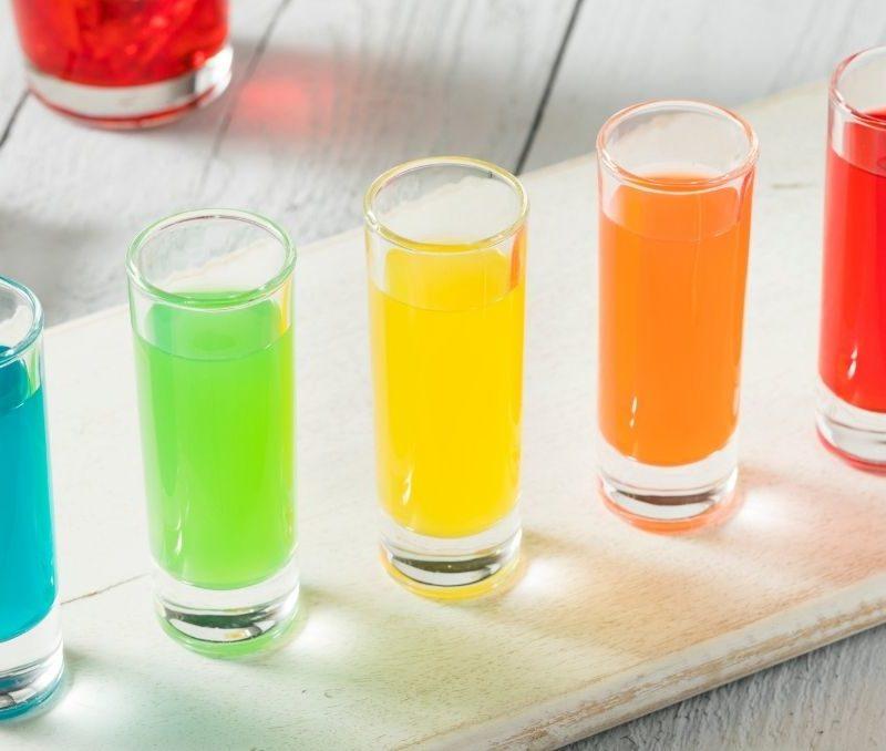 Rainbow shot glasses