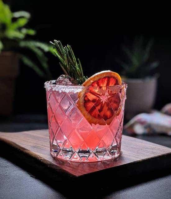 Winter Margarita cocktail