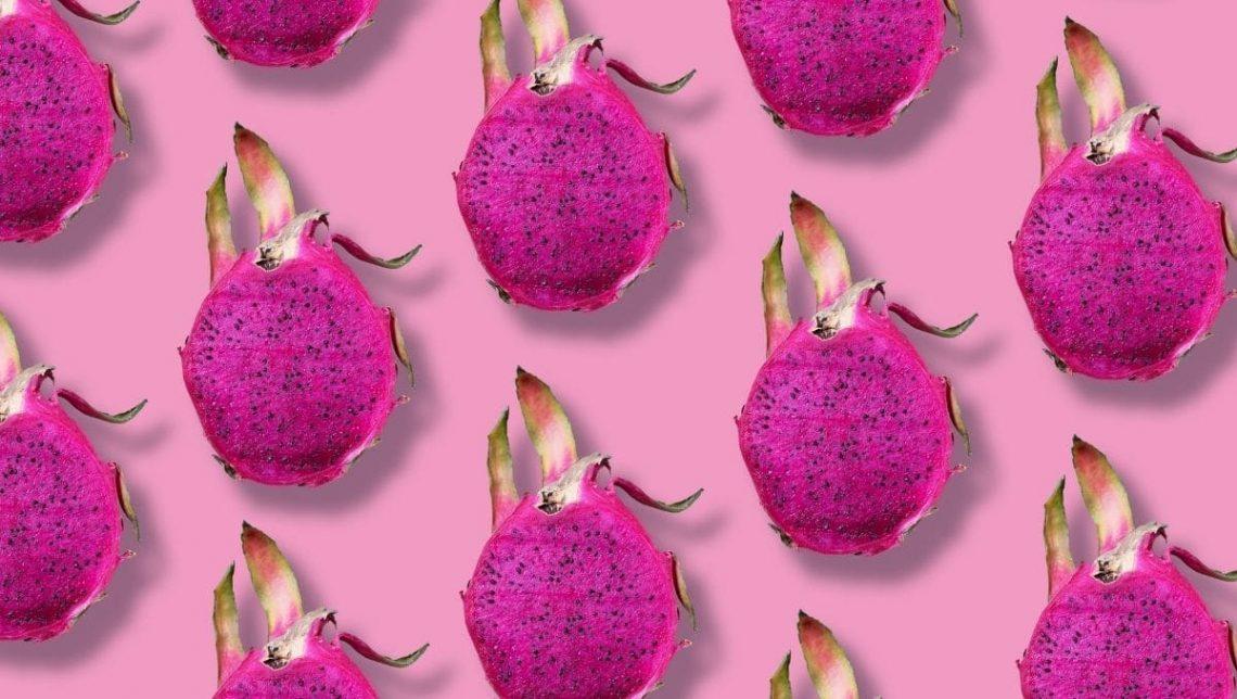 Pink Dragon fruits